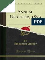 Annual Register 1879