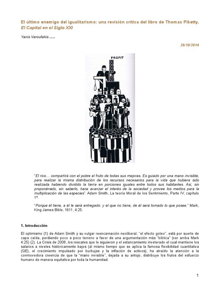 Varoufakis yanis el ltimo enemigo del igualitarismo una revisi n cr tica del libro de thomas piketty el capital en el siglo xxi