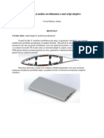 Proiectarea Si Analiza Aerodinamica a Unei Aripi Adaptive