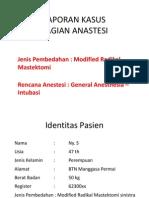 Laporan Kasus Ppt Anastesi