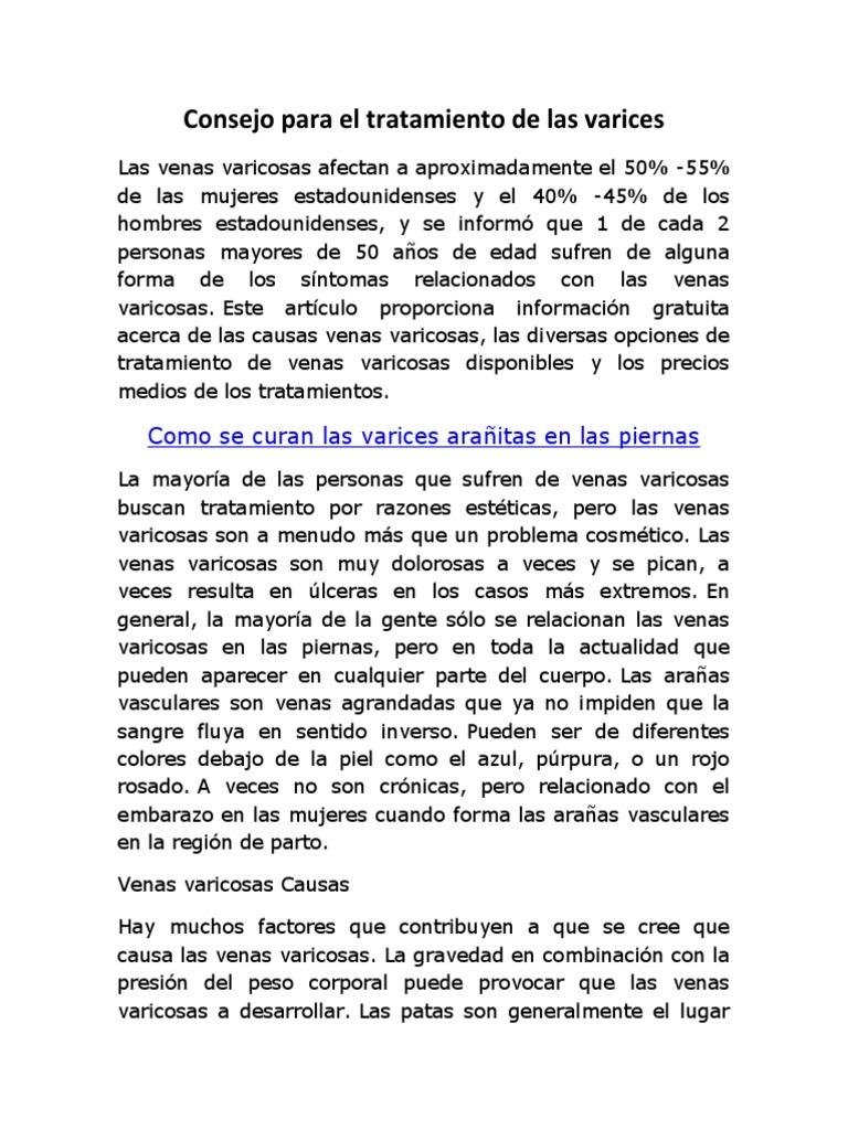 Del venas varicosas pdf información paciente
