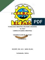 DESHIDRATACION DEL PLATANO