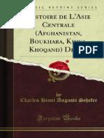 Histoire de LAsie Centrale Afghanistan Boukhara Khiva Khoqand Depuis (1876)