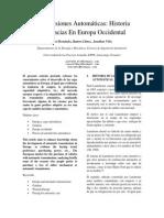 Vehículos de Transmisiónes Automáticas en Europa Occidental