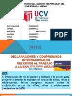 Diapositivas Declaraciones y Compromisos trabajo infantil