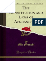 The Constitution and Laws of Afghanistan (1900)