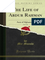The Life of Abdur Rahman Amir of Afghanistan Vol. 1 (1900)