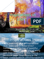 Inspirations in Life - Nov01,2014