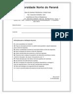 Prova Presencial - Lógica e Técnicas de Programação, 1º Chamada (06!11!13)