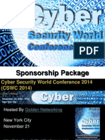 Cyber Security World Conference 2014 - Sponsorship Package