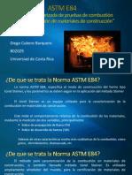 ASTM E84- Norma Estandarizada de Pruebas de Combustión Para Caracterización de Materiales de Construcción