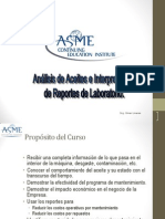 Curso ASME Interpretacion de Analisis de Aceites UPGRADE 2011