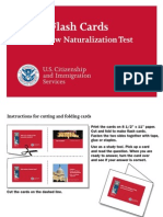Citizenship and Immigration Services U.S. Civics Flash Cards for the New Naturalization Test, 2009 2008