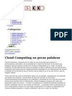 Cloud Computing en Pocas Palabras