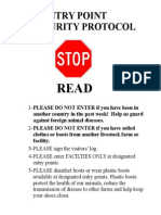 Biosecurity Entry Point Sign