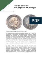 La Creación Del Sistema Monetario Español en El Siglo XIX