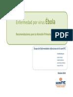 EnfermedadEbola Recomendaciones AP semFYC