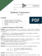 IMOMATH - Quadratic congruences