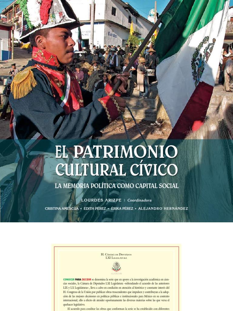 Arizpe Lourdes Coordinadora El Patrimonio Cultural Cívico La Memoria  Política Como Capital Social 9cf7c6c314e