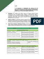 Segunda Convocatoria Para Los Componentes I-II-IV