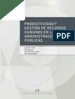 Productividad y gestión de recursos humanos en las admionistraciones públicas