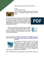 Conclusiones UNESCO sobre empleo de TICs en Educación Superi.doc