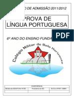 Prova de Português (Concurso de Admissão Colégio Militar de Belo Horizonte)