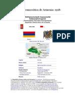 República Democrática de Armenia 1918-1920