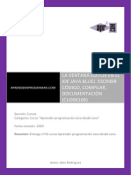 Ventana Editor Bluej Codigo Compilar Debugger Documentacion