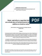 Mujer, Agricultura y Seguridad Alimentaria- Una Mirada Para El Fortalecimiento de Las Politicas Publicas en America Latina (Span