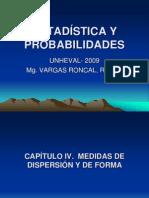 Estadística y Probabilidades Cap IV