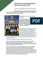 BYU Winter 2015 Legislative Reporting Program