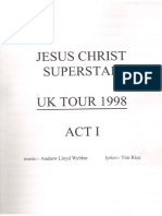 Jesus Christ Superstar UK Tour Full Orch Score