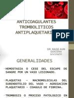 38. Anticoagulantes Antiplaquetarios Resumen 2014