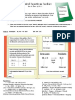 chemical equations booklet tier 2