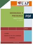 Trabajo de Sociologia y Psicologia