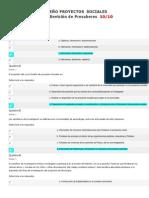 Evaluaciones Diseño de Proyectos