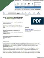BUS Estructura de Interconexión en Un Sistema Computacional __