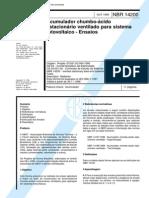 _NBR-14200 - Acumulador chumbo-acido estacionario ventilado para sistemas fotovoltaico - Ensaios.pdf