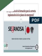 02 Importancia Formacion Correcta Implantacion Planes Autoproteccion SEGANOSA