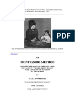 The Montessori Method by Maria Montessori