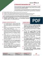 Factsheet Financial Transaction Tax