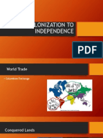 from colonization to independence ppt