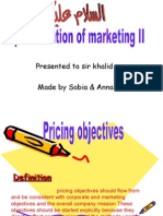6568836 Marketing Pricing Objectives