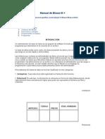 Manual DeDbase III