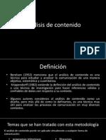 Analisis de Contenido, Hernandez Sampieri
