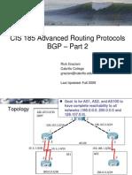 Cis185 BSCI Lecture8 BGP Part2