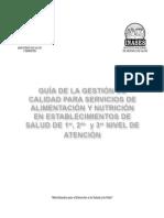 Guia de La Gestion de Calidad Para Servicios de Alimentacion y Nutricion 2