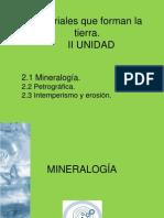 II UNIDAD Mineralogia