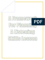 A Framework for Planning a Listening Skills Lesson